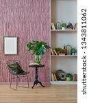 room  wall  claret red... | Shutterstock . vector #1343811062