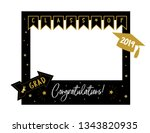 graduation party photo booth... | Shutterstock .eps vector #1343820935
