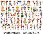 set of people character... | Shutterstock .eps vector #1343825675