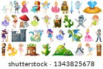 set of fairy tale character... | Shutterstock .eps vector #1343825678