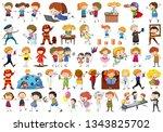set of people character... | Shutterstock .eps vector #1343825702