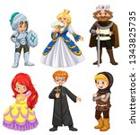 set of different character... | Shutterstock .eps vector #1343825735