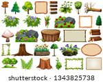 set of nature element for decor ... | Shutterstock .eps vector #1343825738