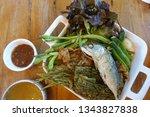 Stock photo nam prik pla tu thai traditional dish thai food chili dip chili paste 1343827838
