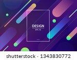 trendy gradient shapes... | Shutterstock .eps vector #1343830772