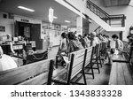 patients were seats waiting... | Shutterstock . vector #1343833328
