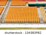 rows of empty seat in stadium... | Shutterstock . vector #134383982