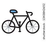 flat cycle icon vector | Shutterstock .eps vector #1343842652
