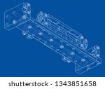 abstract industry object...   Shutterstock .eps vector #1343851658