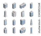 isometric city building set.... | Shutterstock . vector #1343852168