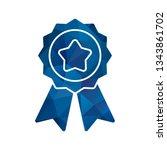 illustration ribbon icon  | Shutterstock . vector #1343861702