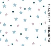 seamless pattern with stars... | Shutterstock .eps vector #1343879948