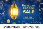 ramadan sale banner . eid... | Shutterstock . vector #1343900738