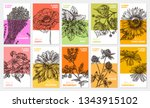 vector collection of labels ...   Shutterstock .eps vector #1343915102
