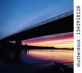 Hometown Bridge On Sunset