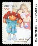 australia   circa 2009  a stamp ... | Shutterstock . vector #1343928572