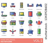 home appliance icons including... | Shutterstock .eps vector #1343928602