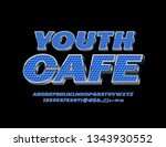vector bright sign youth cafe.... | Shutterstock .eps vector #1343930552