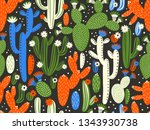 vector seamless pattern with... | Shutterstock .eps vector #1343930738