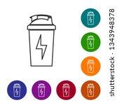 grey fitness shaker line icon... | Shutterstock .eps vector #1343948378