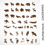 vector collection of animal... | Shutterstock .eps vector #134394995