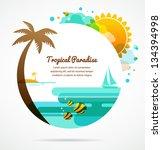 tropical paradise | Shutterstock .eps vector #134394998
