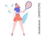 unusual character girl involved ... | Shutterstock .eps vector #1343972792