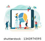 business report. financial... | Shutterstock .eps vector #1343974595