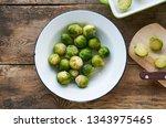 frozen brussels sprouts in a... | Shutterstock . vector #1343975465