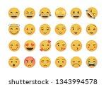 set of main emoticon vector...   Shutterstock .eps vector #1343994578