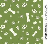 background with dog paw print... | Shutterstock . vector #134400698