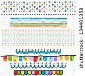 doodle borders on scribbled... | Shutterstock .eps vector #134401358