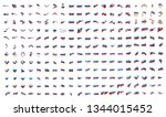 very big collection of vector... | Shutterstock .eps vector #1344015452