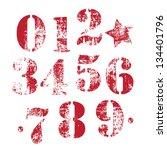 numbers | Shutterstock .eps vector #134401796