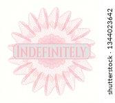 pink rosette. linear... | Shutterstock .eps vector #1344023642