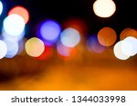 light night city bokeh abstract ... | Shutterstock . vector #1344033998