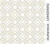 seamless golden oriental...   Shutterstock .eps vector #1344035042