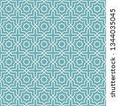 seamless oriental pattern.... | Shutterstock .eps vector #1344035045