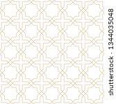seamless golden oriental... | Shutterstock .eps vector #1344035048