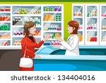 a vector illustration of woman... | Shutterstock .eps vector #134404016