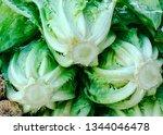 green lettuces in street market ...