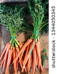 carrots with roots in the...