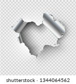 ragged hole torn in ripped... | Shutterstock .eps vector #1344064562