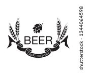 coat of arms for brewery... | Shutterstock .eps vector #1344064598