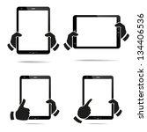 tablet computer   mobile phone. ... | Shutterstock .eps vector #134406536