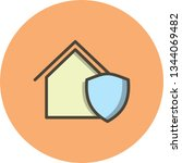 illustration  protected house... | Shutterstock . vector #1344069482