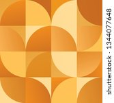 geometric simple golden colored ... | Shutterstock .eps vector #1344077648