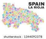 mosaic technical la rioja of... | Shutterstock .eps vector #1344092378