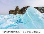 cape khoboy rock on olkhon... | Shutterstock . vector #1344105512