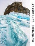cape khoboy rock on olkhon... | Shutterstock . vector #1344105515